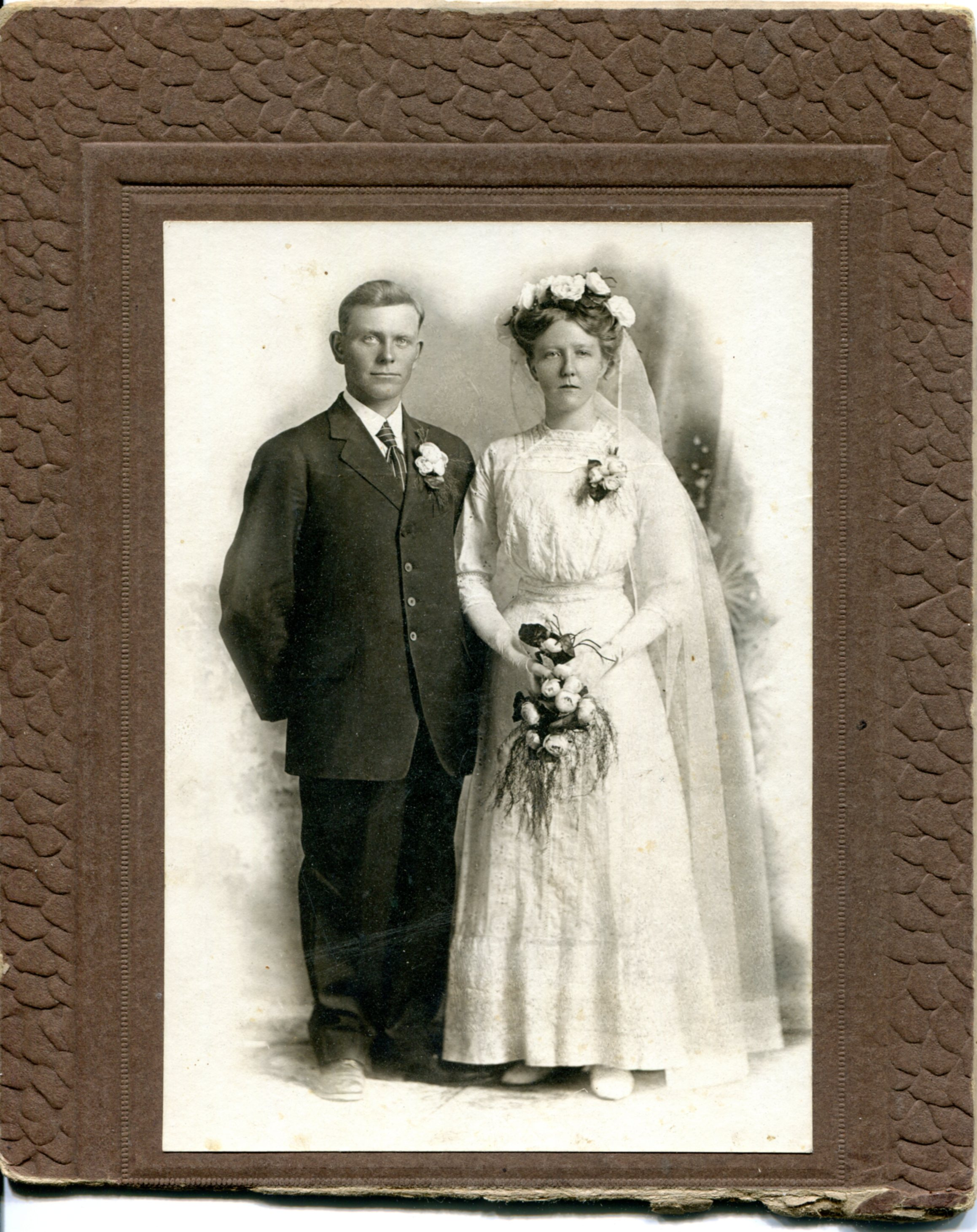 Photo- Marriage Portrait of Chris and Maude Thompson